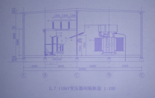 110KV变压器间隔断面