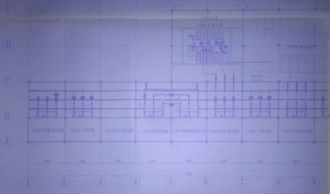 集成变电站一层平面图