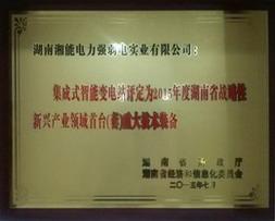 湖南省战略性新兴产业领域重大技术装备